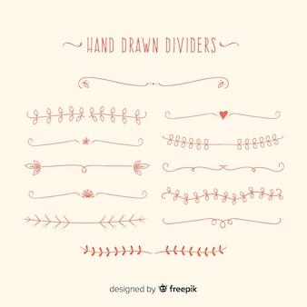 Hand drawn dividers ornaments