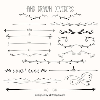 Hand drawn dividers pack