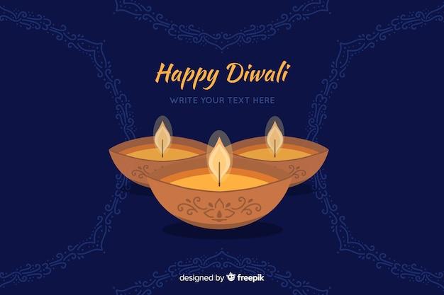 Hand drawn diwali background