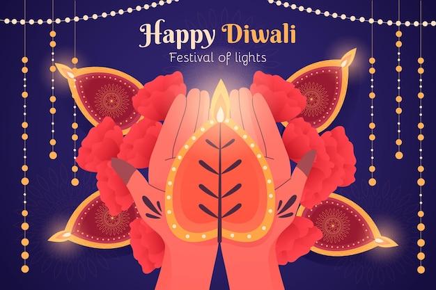 Hand drawn diwali concept