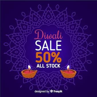 Hand drawn diwali sale