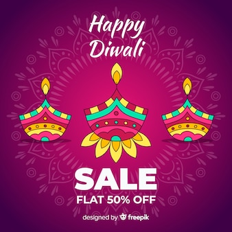 Hand drawn diwali sale