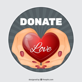 Hand drawn donation background