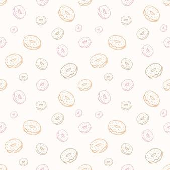 포장용 손으로 그린 도넛 패턴