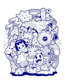 Hand drawn doodle art