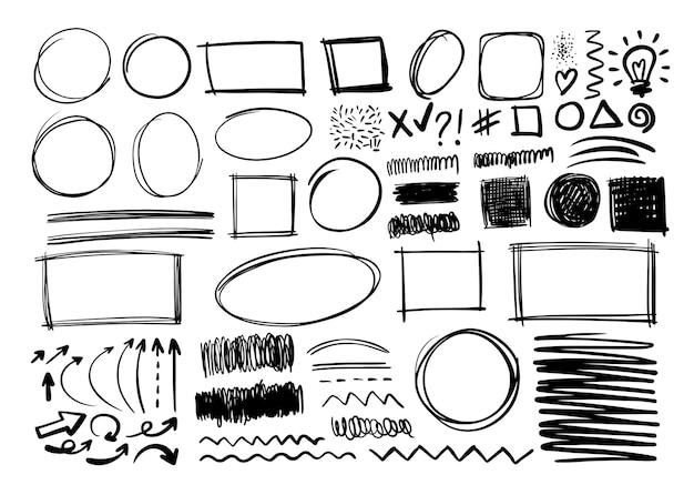Рисованной каракули дизайн графических элементов.