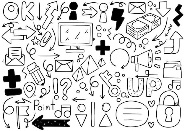 Hand drawn doodle elementals businesses