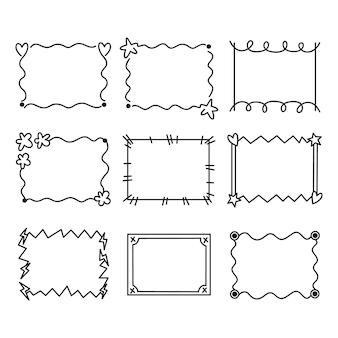 手描き落書きフレームコレクション