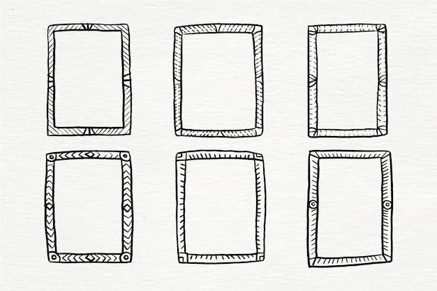 Коллекция рисованной каракули фреймов