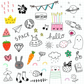 Hand drawn doodle stlye illustration