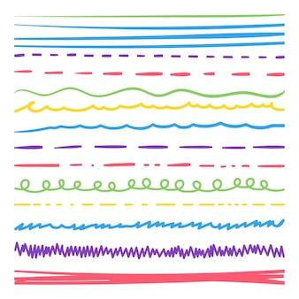 手描き落書きストロークイラストセット
