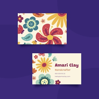 Hand drawn double-side business card