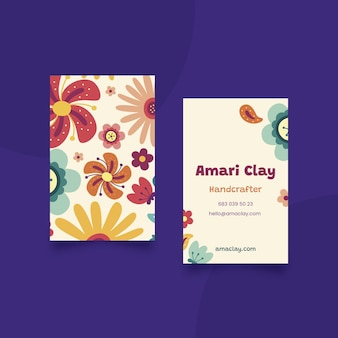 Hand drawn double-sided business card