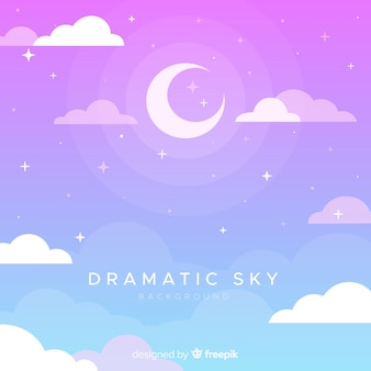 Hand drawn dramatic sky background