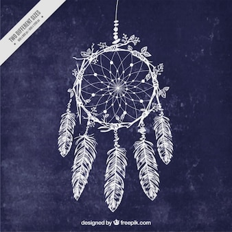 Hand drawn dream catcher background