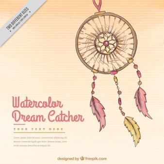 Hand drawn dream catcher decorative background