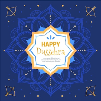 Hand drawn dussehra concept