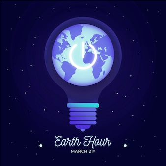 Hand drawn earth hour illustration