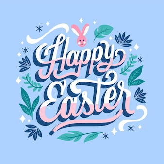 Hand drawn easter background
