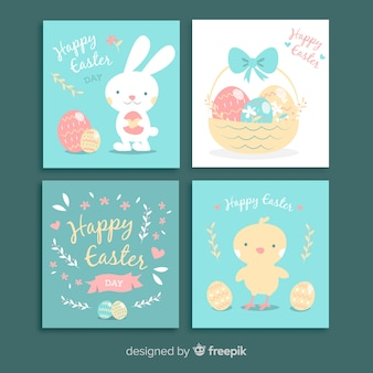 Hand drawn easter card pack