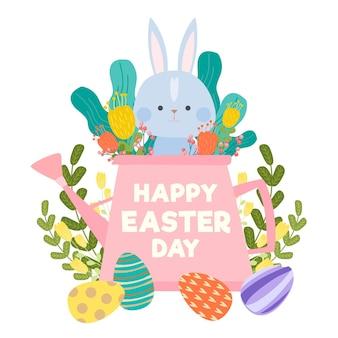 Нарисованная рукой иллюстрация празднования пасхи