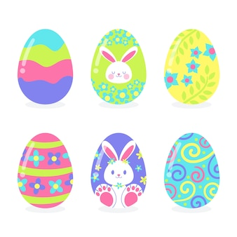 Hand drawn easter day egg collection
