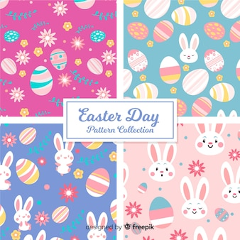 Hand drawn easter day pattern