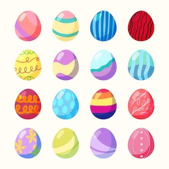 Коллекция рисованной пасхальных яиц