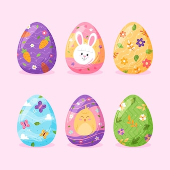 Hand drawn easter egg collection