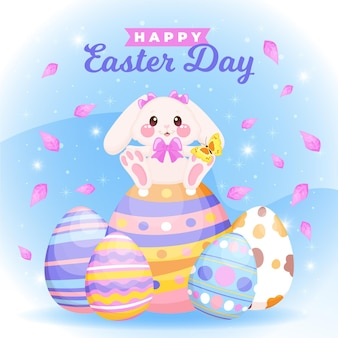 Hand drawn easter illustration