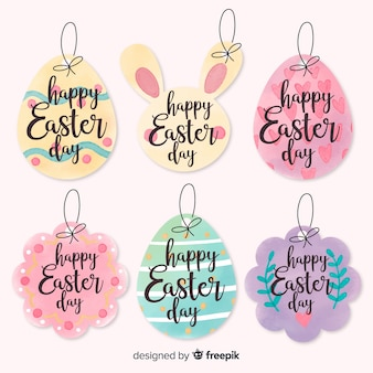 Hand drawn easter label collection
