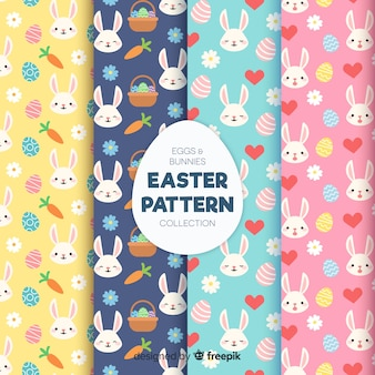 Hand drawn easter pattern pack