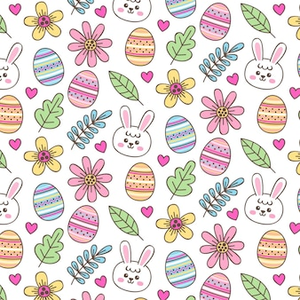 Hand-drawn easter pattern