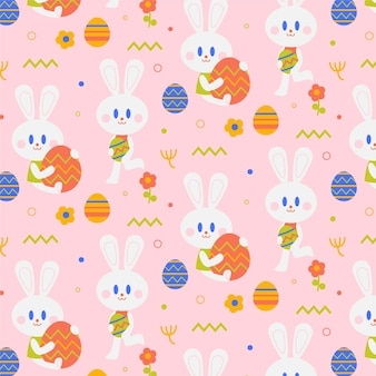 Hand drawn easter pattern