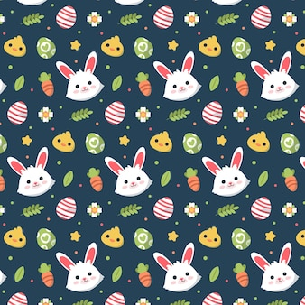 Hand drawn easter pattern Free Vector