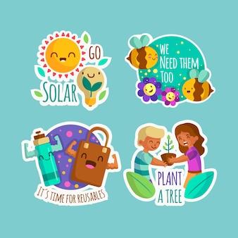 Hand-drawn ecology badge design