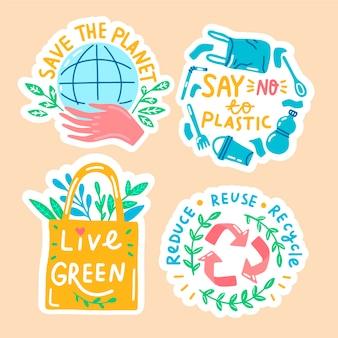 Hand drawn ecology badges