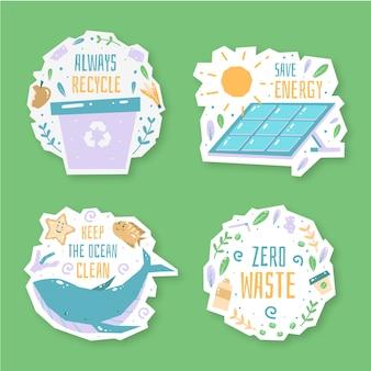 Hand-drawn ecology badges