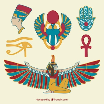 Hand drawn egyptian culture