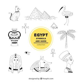 Сборник египетских богов и символов ручной работы