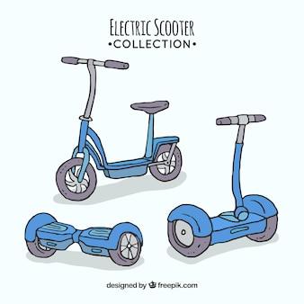 手描きの電子スクーター