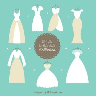 Hand drawn elegant brid dress collection