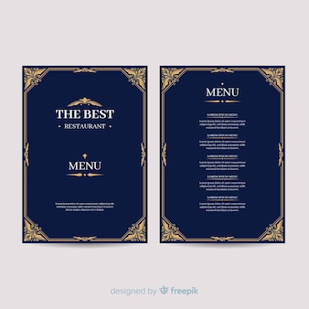 Hand drawn elegant menu template