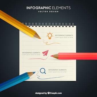 手描きの要素のインフォグラフィック