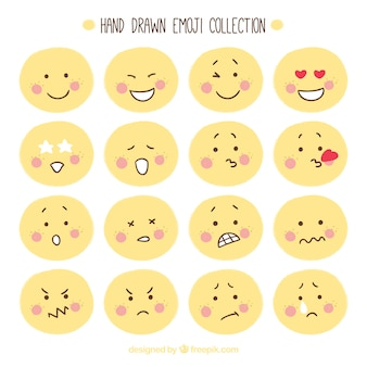 Hand-drawn emoticon collection