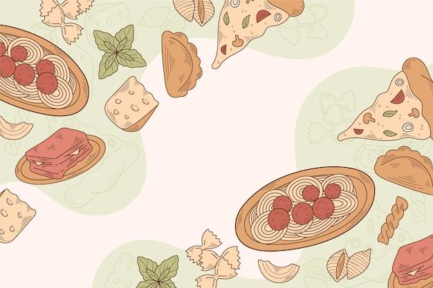 Рисованной гравюра еда каракулей