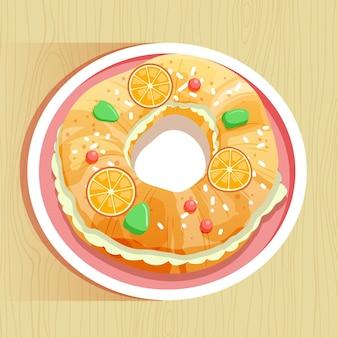 手描きのエピファニー伝統的なケーキ
