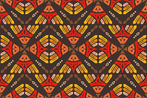 手描きエスニックシームレスパターンカラフルなスタイル