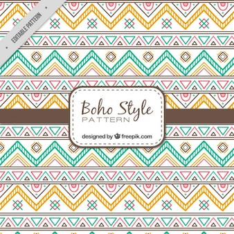 Hand drawn ethnic shapes pattern