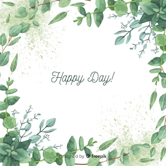 Hand drawn eucalyptus branches background